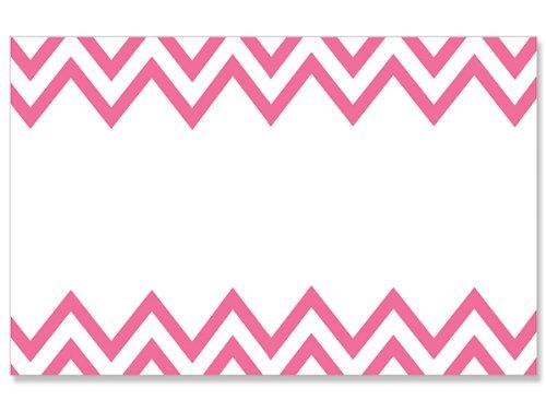 50 pack Pink Chevron- No SentimentEnclosure Cards (20 unit, 50 pack per unit.) by NAS
