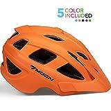 Toys : MOON Kids Bike Helmet,Knucklehead Unisex Youth Mountain Road Bicycle Helmet for Girls and Boys with Detachable Visor (Orange, S)