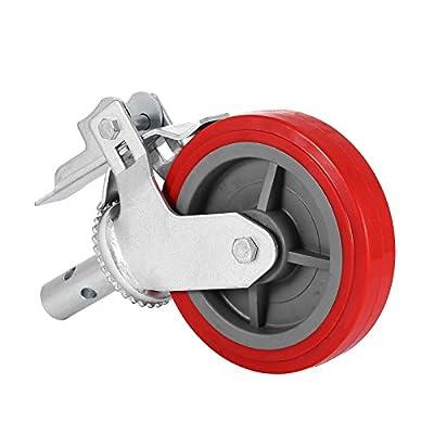 Geindus Scaffolding Casters Polyurethane 600LBS Scaffolding Wheels Set Of 4 Scaffold Caster Wheel On Iron With Brake Lock