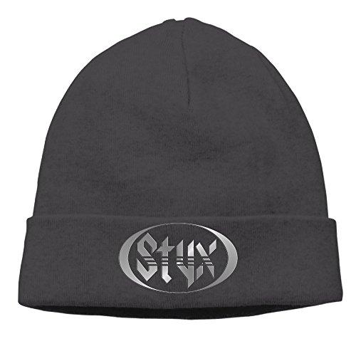 Equinox Mens Watch - Styx Rock Band Logo Equinox Cornerstone Cap Hipster Beanie Winter Hats Watch Cap