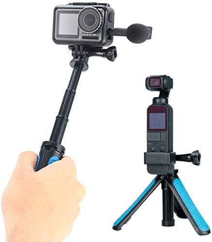 Cellphone and Digital Compacts for GoPro Hero 7 6 5 4 3+ Dragon Touch Campark TELESIN 8-35.5 Aluminum Extension Selfie Stick Monopod Pole with Tripod Mount Adapter APEMAN Action Cameras AKASO