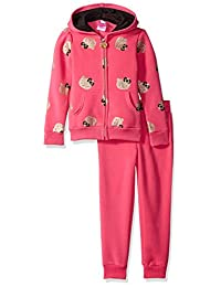 Hello Kitty girls Active Set With Gold Allover Sparkle Glitter Print
