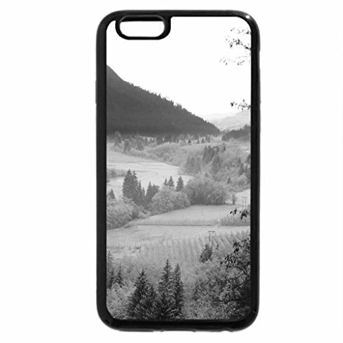iPhone 6S Plus Case, iPhone 6 Plus Case (Black & White) - wonderful river valley on a dreary winter day