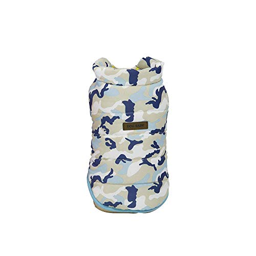 RSHSJCZZY Pet Camouflage Clothes Puppy Winter Keep Warm Vlothes Bright Colors Vest Costumes