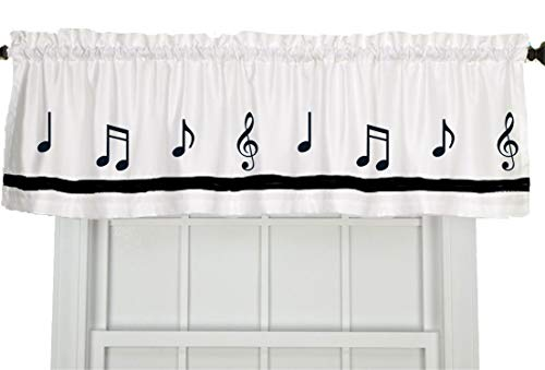Musical Notes Music Window Valance/Window Treatment - In Your Choice of Colors - Custom Made ()