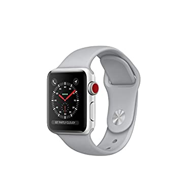 Apple Watch Series 3 38mm GPS + Cellular GSM Unlocked (Silver Aluminum Case w/ Fog Sport band)