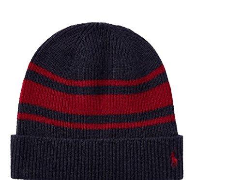 RALPH LAUREN Polo Men's Rugby Stripe Wool Cashmere Hat