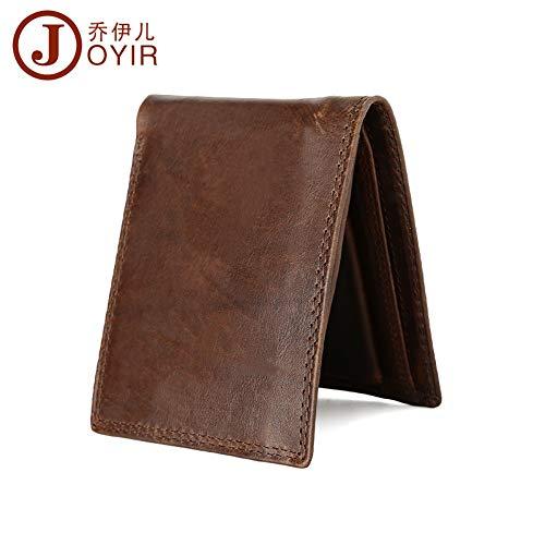monnaie Porte Hommes Wallet Rfid Pour Leather Short Lmshm Chocolate wvd5Ow