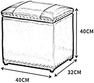 YUMUO Pouf de Rangement carré en Similicuir avec Couvercle à charnière Tabouret de Salle de Bain Moderne avec Tabouret (Couleur: # 9)