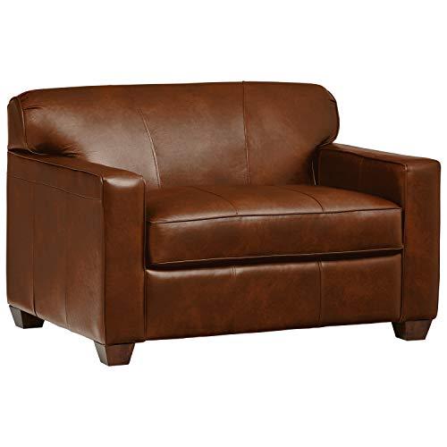 Stone Beam Fischer Sleeper Chair, 51 W, Chestnut Leather