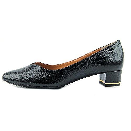 Bambalina Black Print Patent Dress Renee Women's J Leather Pump Lizard pq4ER1