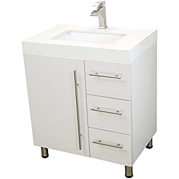 Windbay 30 free standing bathroom vanity sink set vanities sink white for White bathroom cabinets free standing