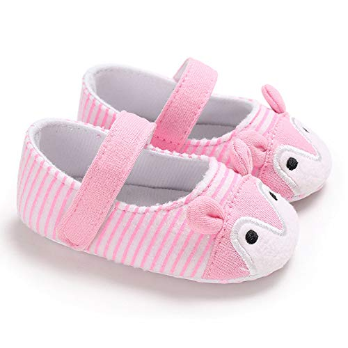 NUWFOR Infant Newborn Baby Girls Prewalker Cartoon Animal Ears Soft Sole Single Shoes(Pink,6~12 Month) by NUWFOR (Image #1)