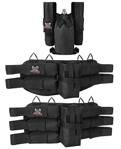 MAddog Entry Level Paintball Harness Pod Pack Belt with HPA CO2 Tank Holder Pouch   2+1   4+1   6+1