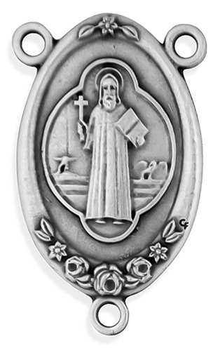 (38mm Large Rosary Center - Pack of 10 (Miraculous Medal) (Saint Benedict Medal))