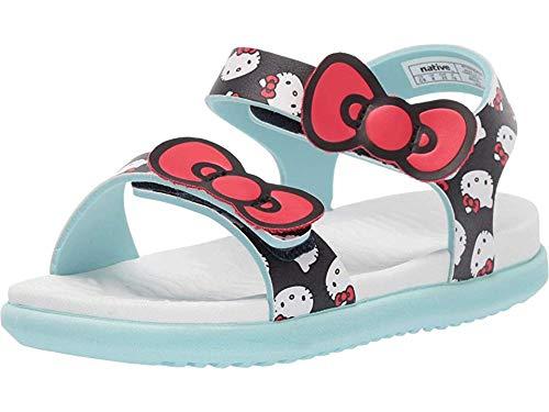 Native Kids Shoes Baby Girl's Charley Bow (Toddler/Little Kid) Regatta Blue/Shell White/Hydrangea Blue/Hello Kitty 10 M US Toddler (Hello Kitty Toddlers)