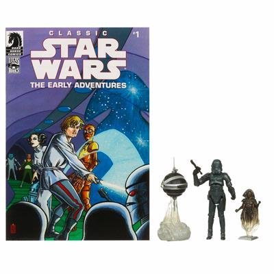 Star Wars 2009 Comic Book Action Figure 2Pack Dark Horse Classic Star Wars The Early Adventures #1 Stormtrooper & Blackhole Hologram by Star Wars -