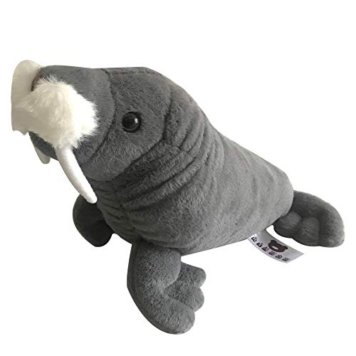 kinwow Realistic Stuffed Animal Plush Toy, 12 inches Super Soft Wild Walrus Soft Toy (Without Squeaker) (Walrus Plush Stuffed Animal)
