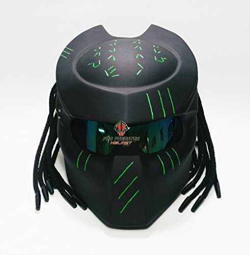 SY06 Custom Predator Motorcycle Dot Helmet Matt Black