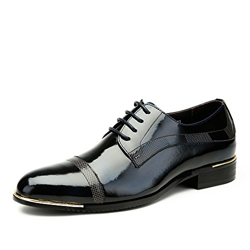 Kamel Mens Brogue Cap-toe Oxford Färg Blå Storlek 38 M Eu