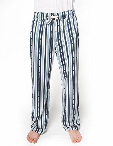 Rebel Canyon Men's Drawstring Waist Printed Knit Lounge Pant Small Navy (Small Canyon Stripe)