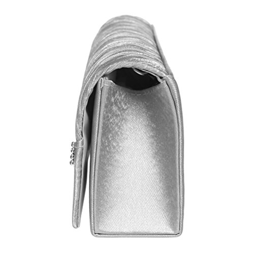 Evening Wedding Party Envelope Satin FASHIONROAD And Womens Clutch Crystal Clutch White Purses For aCqaWp