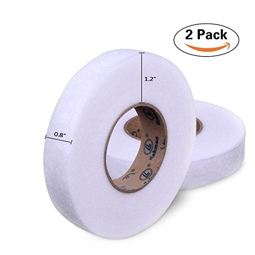 Hotusi 2 Pack 70 Yards Fabric Fusing Tape Adhesive Hem Tape