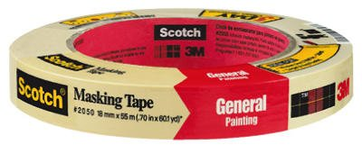 3M 2050-18A .70'' Scotch® Painters' Masking Tape For Trim Work