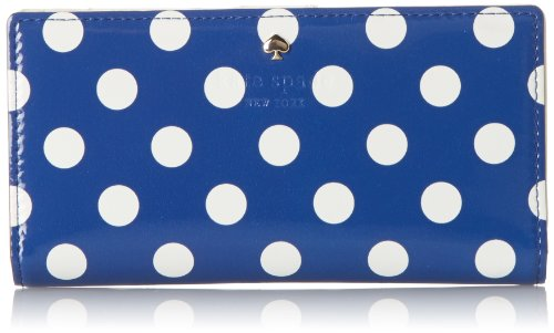 Kate Spade New York Carlisle Street Stacy Checkbook Wallet Bluebell/Cream One Size by Kate Spade New York