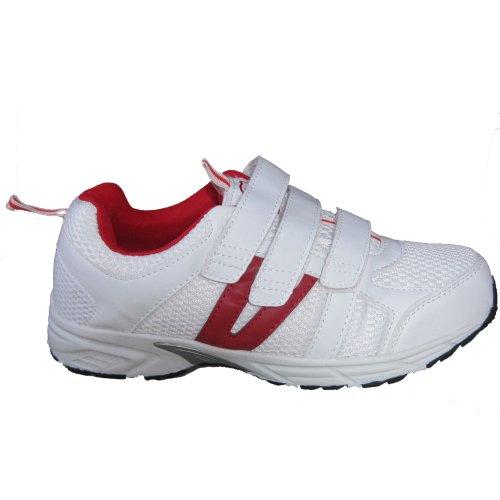 Dr Zen Jordan Women's Comfort Therapeutic Extra Depth Shoe: White/Red 15.0 Wide (E-3E) Velcro by Dr. Zen (Image #3)