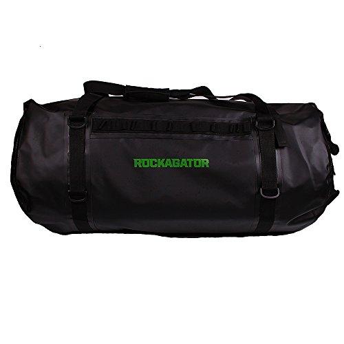 Rockagator Waterproof Duffle Bag - Mammoth Series - Roll Top Overland Storage (90 Liter, Black)