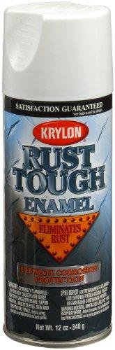 - Krylon K09219007 'Rust Tough' Flat White Rust Preventive Enamel - 12 oz. Aerosol