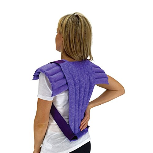 Nature Creation- Set of Upper Body Wrap Heating Pad + Spine & Back Herbal Pack - Reusable Hot & Cold Therapy (Purple Marble) ()