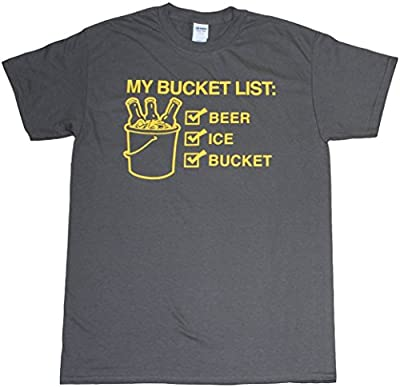 My Bucket List: Beer, Ice, Bucket Funny Mens Unisex T-shirt Charcoal