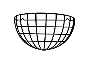 """22"""" Half Round Wall Basket - 4 Pack - wrought iron PVC coated"""