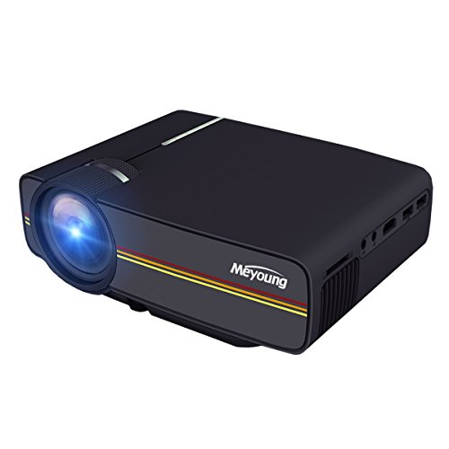 Meyoung video projector support 1080p for computer tv home for Mini outdoor projector
