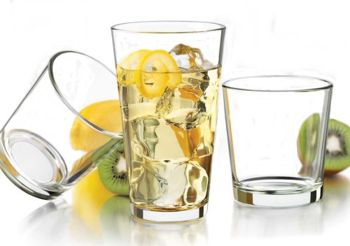 Flare Cooler Glass (Libbey 16-Piece Clear Flare Glassware Set)