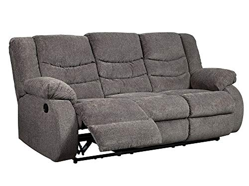 Signature Design by Ashley 9860688 The Tulen Reclining Sofa, Gray
