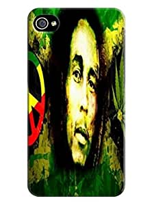 Durable lovely hard TPU Phone Protection Case/cover fashionable Cool Bob Marley Designed for iphone 4/4s