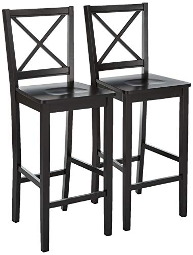 Target Marketing Systems Set of 2 30-Inch Virginia Cross Back Stools, Set of 2, Black (Bar Stools Swivel Target)