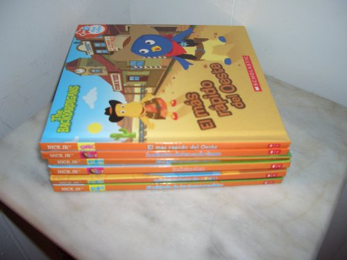 Spanish Children's Books, Blue's Clues, Dora, Backyardigans, Lazy Town LOT of 8 Assorted New Books]()
