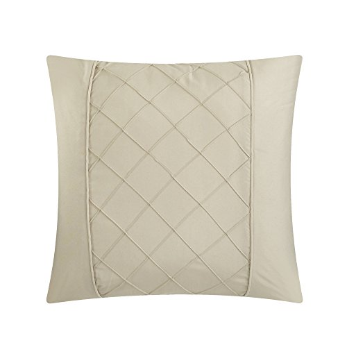 Chic Home Hannah 10 Piece Comforter Complete Bag Pinch Pleated Ruffled Pintuck Bedding with Sheet Set and Decorative Pillows Shams Included, King, Taupe by Chic Home (Image #3)