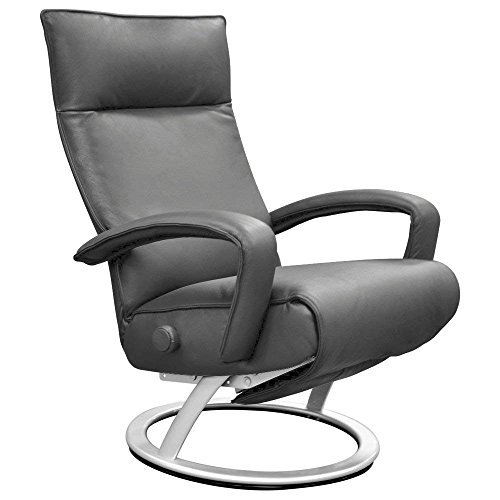 Lafer Gaga Recliner Chair (Grey Genuine Leather FC114)