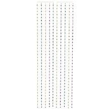 Beistle Disco Ball Bead Curtain, 6-Feet, 6-Inch by 24-Inch, Gold/Green/Purple