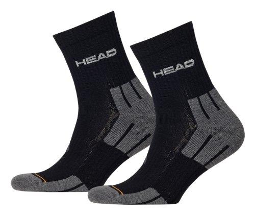 HEAD Herren Socken Performance Shorts Crew 3P, black, 43-46, 741019001
