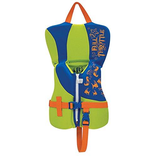- Full Throttle Unisex-Baby Infant Hinged Rapid-Dry Flex-Back Vest, Blue/Green