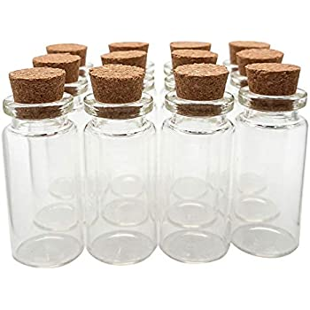b528cebe06a3 Amazon.com: VNDEFUL 24 Pcs Mini Clear Glass Jars Bottles with Cork ...