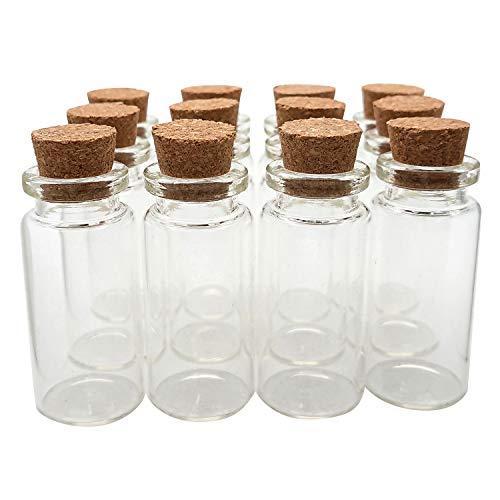 (Axe Sickle 24PCS 10ml Cork Stoppers Glass Bottles DIY Decoration Mini Glass Bottles Favors, Mini Vials Cork, Message Glass Bottle Vial Cork, Small Glass Bottles Jars Corks for Wedding Party)