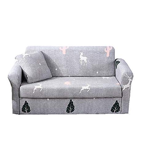 Zhiyuan Todo incluido funda de sofá elástico, 2 plazas, Gris ...