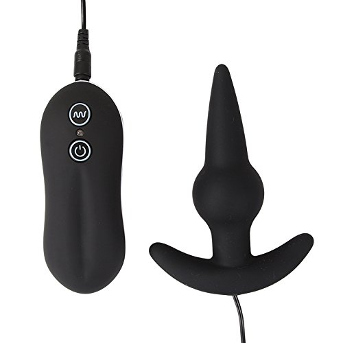 BuyerKit(TM) 10 Function Anal Best Anal Toys Black Anillo Bulb Probe Silicone Remote control